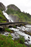 Lotefossen Waterfall Stock Images