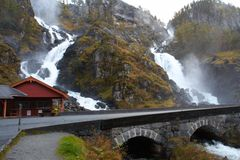 Lotefossen waterfall, Norway Stock Image