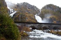 Lotefossen waterfall, Norway Royalty Free Stock Photography