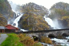 Lotefossen waterfall, Norway Royalty Free Stock Photos