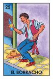 Lotería Mexicana - El Borracho - High resolution image