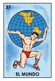 LoterÃa Mexicana - imagem da alta resolução do EL Mundo- ilustração stock