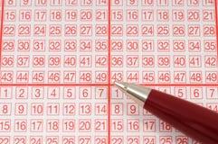 Lotería-boleto Fotos de archivo