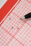 Lotería-boleto Imágenes de archivo libres de regalías