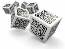 Lotería, cubos del código de Qr como dados libre illustration