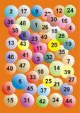 Lotería del gráfico Fotografía de archivo