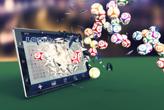 Lotería en línea Fotografía de archivo libre de regalías