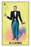Lotería Mexicana - El Catrín - High resolution image. High resolution image of Mexican Lottery character El Catrín. Illustration of an elegant handsome stock illustration