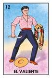 Lotería Mexicana - El Valiente - High Resolution Image Stock Photography