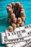 Loteria del juego de mesa Foto de archivo libre de regalías