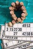 Loteria del juego de mesa Fotografía de archivo libre de regalías