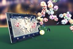 Loteria em linha Fotografia de Stock Royalty Free