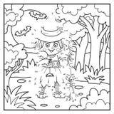 Loteria liczbowa, czarownica ilustracji