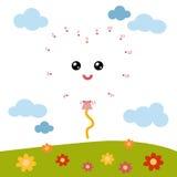 Loteria liczbowa dla dzieci, przyjęcie balon, kierowy kształt royalty ilustracja