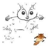 Loteria liczbowa, Latająca wiewiórka ilustracja wektor