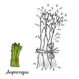 Loteria liczbowa: owoc i warzywo (asparagus) Obraz Stock