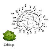 Loteria liczbowa: owoc i warzywo (kapusta) ilustracja wektor