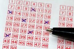 Loteria Lucky Numbers Imagen de archivo libre de regalías