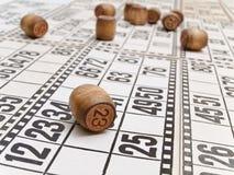 Loteria y pequeño barril Imágenes de archivo libres de regalías