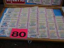 Loterie vendue en Thaïlande Photographie stock libre de droits