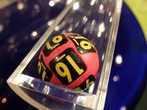 Loterijballen tijdens extractie Royalty-vrije Stock Afbeelding