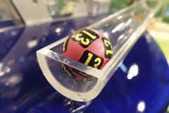 Loterijballen tijdens extractie Royalty-vrije Stock Afbeeldingen
