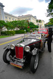Loterijen die Plaats, Singapore - Juli 27, 2008 landen: Uitstekend MG in concours royalty-vrije stock fotografie