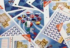 Loterijkaartjes Super Enalotto Royalty-vrije Stock Afbeelding