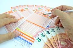 Loterijspel in Italië Stock Afbeeldingen