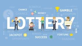 Loteryjna pojęcie ilustracja ilustracji