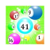 Loteryjne piłki latają od daleko z prędkością, jaskrawy - zielony tło ilustracja wektor