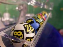 Loteryjne piłki podczas ekstrakci Fotografia Royalty Free