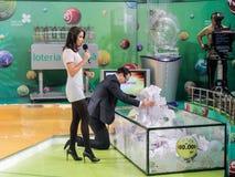 Loteryjne piłki podczas ekstrakci Zdjęcia Stock