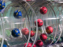 Loteryjne piłki podczas ekstrakci Obrazy Stock