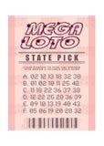 loteryjny bilet ilustracji