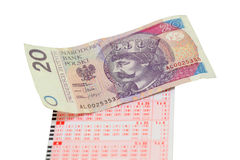 Loteryjny bilet Fotografia Royalty Free