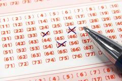 Loteryjny bilet i pióro Obraz Stock