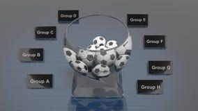 Loteryjny szklany puchar Zdjęcia Stock