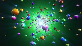 Loteryjnych piłek loopable tło royalty ilustracja