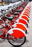 Lotes da bicicleta vermelha Fotos de Stock