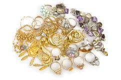 Lotes da jóia Fotografia de Stock Royalty Free