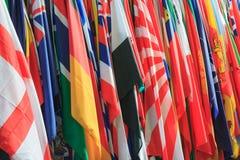 Lotes das bandeiras fotografia de stock