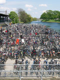 Lotes das bicicletas Foto de Stock Royalty Free