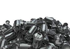 Lotes das latas Imagem de Stock