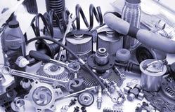 Lotes das peças de automóvel Imagens de Stock