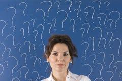 Lotes das perguntas Fotografia de Stock Royalty Free