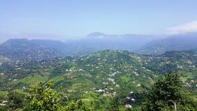 Lotes de casas vivas nas montanhas Foto de Stock