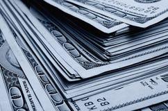 Lotes de cem das notas de dólar Imagens de Stock Royalty Free