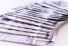 Lotes de contas de dinheiro Imagens de Stock