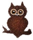 Lotes de feijões de café e de copos de café roasted na Fotografia de Stock
